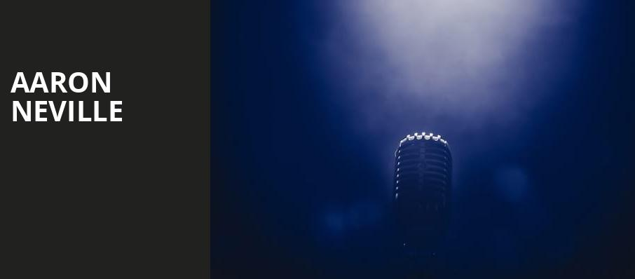 Aaron Neville, Germantown Performing Arts Centre, Memphis