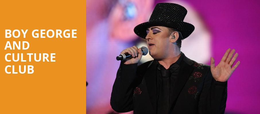 Boy George and Culture Club, Memphis Botanical Garden, Memphis